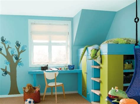 chambre bleu violet peinture associer les couleurs avec harmonie bleu vert