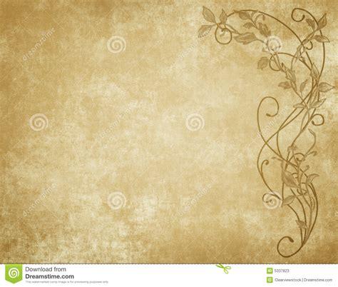 floral paper  parchment stock image image  ancient