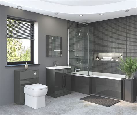 nevada bathroom suite  gloss grey bathroom studio keighley