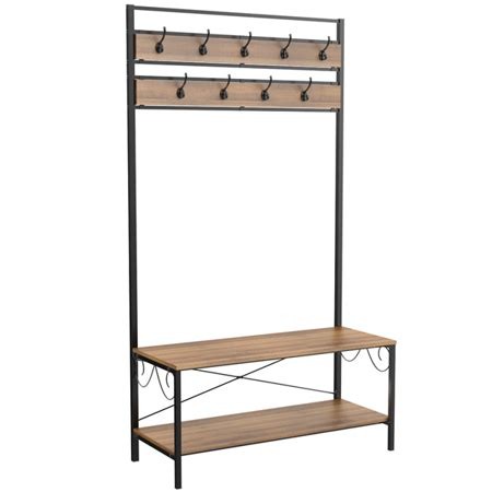 Entryway Bench With Shoe Storage And Coat Rack by Yaheetech 72 Inch Tree Storage Bench Entryway Shoe