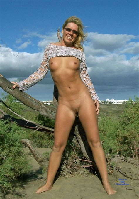 Nude Beach Pose Wearing Sunglasses August Voyeur Web Hall Of Fame