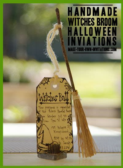 homemade halloween invitations    party