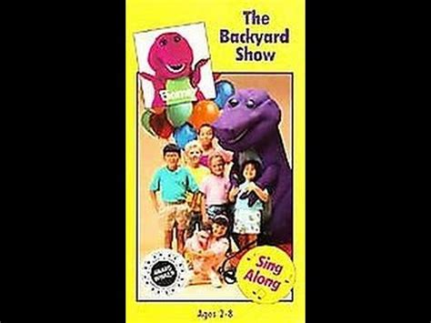 Barney And The Backyard Vhs by Opening Closing To Barney The Backyard Show 1992 Vhs