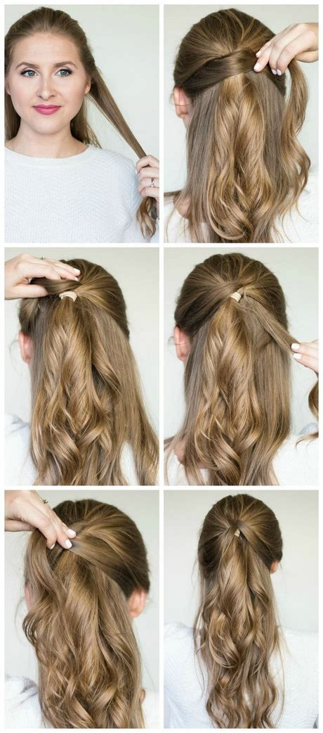 quick and easy updos for long thick hair