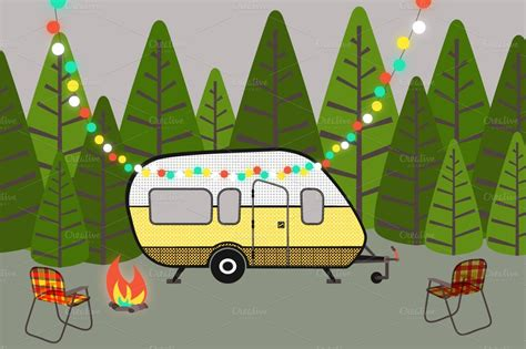 Family Rv Camping Clipart