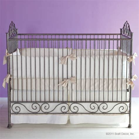 Bratt Decor Crib by Casablanca Iron Crib In Pewter By Bratt Decor