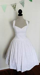 short wedding dress pin up style cotton eyelet lace With pin up style wedding dresses