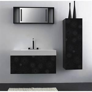 Meuble Haut De Salle De Bain : meuble haut salle de bain noir ~ Louise-bijoux.com Idées de Décoration