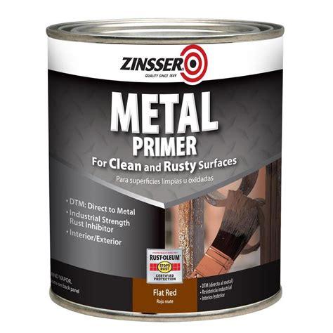 Zinsser 1 Qt Flat Red Interiorexterior Metal Primer (2
