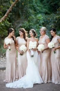gold glitter bridesmaid dresses pretty sequin bridesmaids dresses part ii aisle