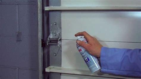 lubricating garage door b laster garage door lubricant how to use