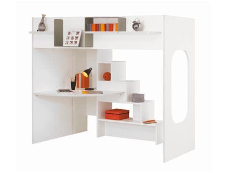 lit mezzanine combiné bureau un lit mezzanine astucieux plein de rangements le