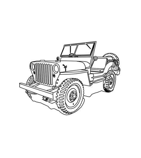 fun cj  high hood   jeep coloring book coloring