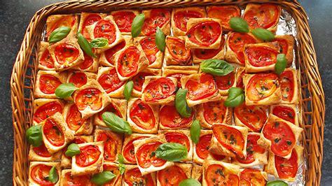 fingerfood rezepte kalt einfach schnell bl 228 tterteig tomaten rezepte chefkoch de