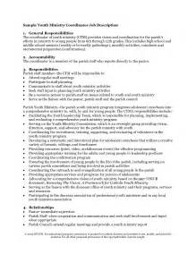 youth ministry description resume youth pastor resume student resume template