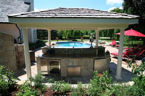 highland park il shade structure outdoor kitchen bar