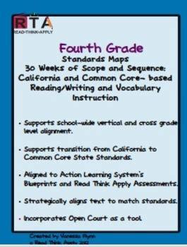 fourth grade standards maps california literacy standards