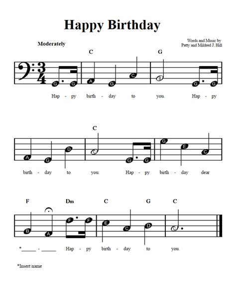 Watch the video and play these notes with your left hand while playing the melody with the thanks for checking out this happy birthday to you piano tutorial. Happy Birthday Piano Sheet Music C Major | piano sheet music notes