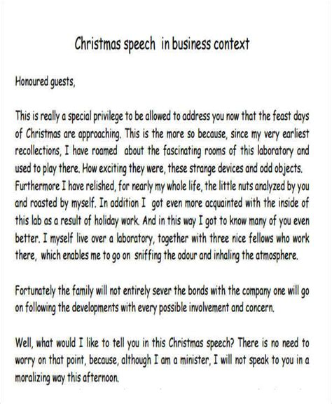 speech by director to employee for xmas party 37 speech formats