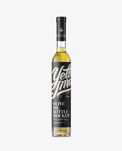 How often do you consider product mockups as the most suitable means of showcasing your design projects? Clear Glass Olive Oil Bottle Mockup - Front View in Bottle ...