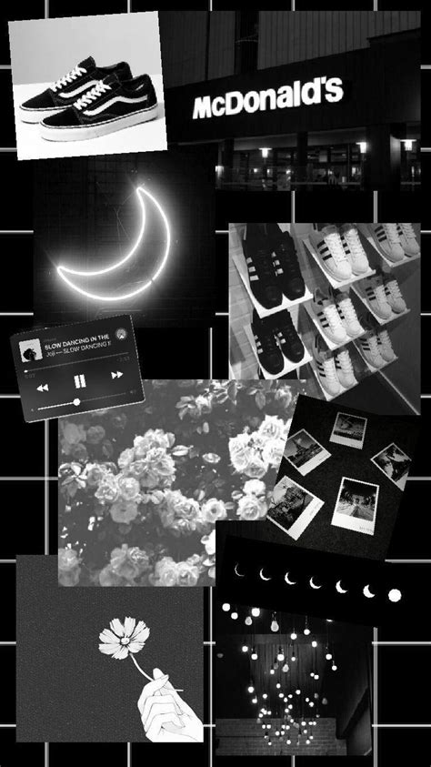 black  grey aesthetic collage wallpapers wallpaper cave