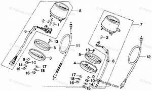 Honda Motorcycle 1976 Oem Parts Diagram For Speedometer