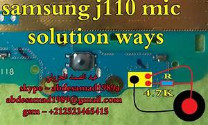 Samsung Galaxy J1 Ace J110 Mic Problem Solution Jumpers