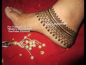 Bridal Anklet Feet Jewellery Ornament Inspired Henna ...