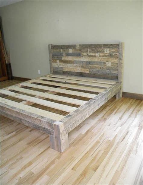 diy pallet king size bed pallet furniture plans