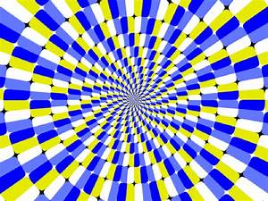 Concentric circle spiral effect, moving bars, bending ...