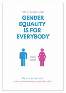 Free, Gender, Equality, Posters, Design, A, Custom, Gender