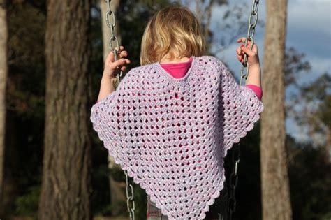Kids Crochet Poncho