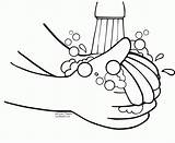 Coloring Pages Hand Washing Popular sketch template