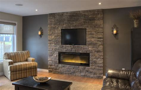 stone accent fireplace   stone
