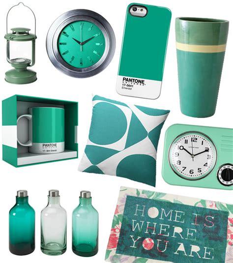 horloge de cuisine sélection déco vert émeraude couleur de l 39 ée 2013