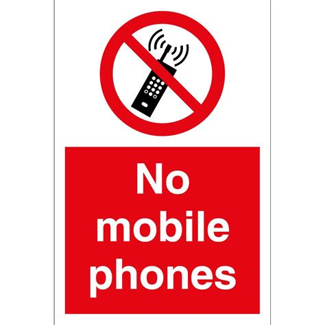 mobile phones for no mobile phones signs from key signs uk