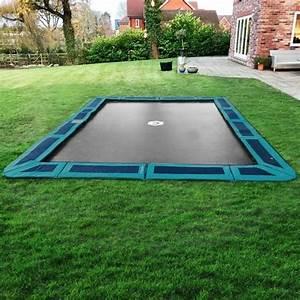 In Ground Trampolin : in ground trampoline kit 14ft x 10ft green capital play ~ Orissabook.com Haus und Dekorationen