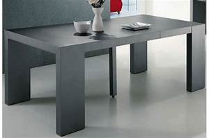 Table A Rallonge Pas Cher : table console extensible gris satin 4 rallonges xl teo design pas cher sur sofactory ~ Teatrodelosmanantiales.com Idées de Décoration