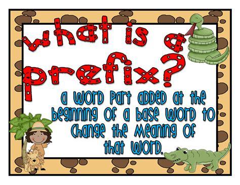 classroom freebies mini prefix suffix posters