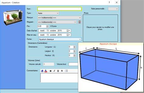 calculer le volume d un aquarium logiciel aquaviparegest logiciel d aquariophilie