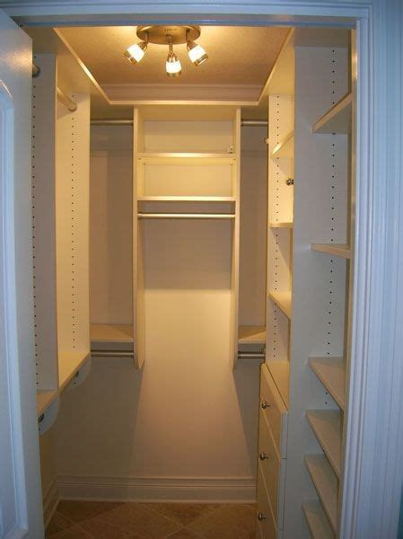 small built   shaped closet closet remodel small closet design closet layout