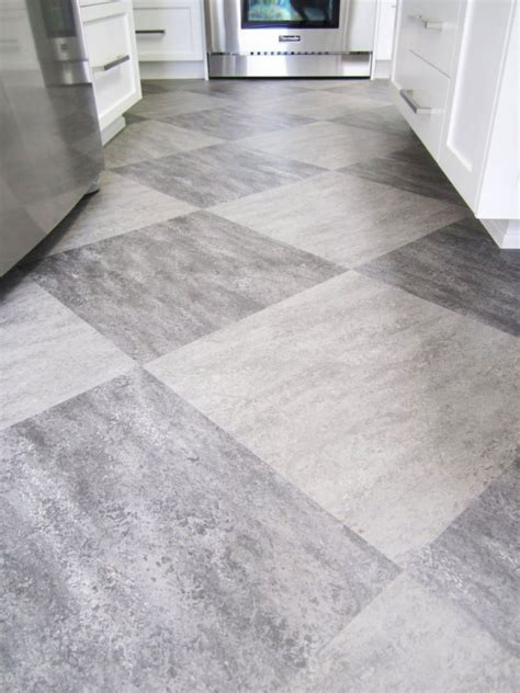 statement  large floor tiles