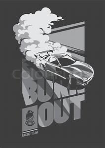 Burnout Car  Japanese Drift Sport Car