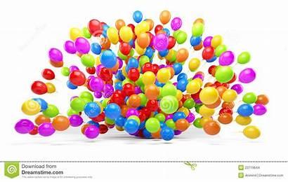 Lots Balloons Colorful Balloon