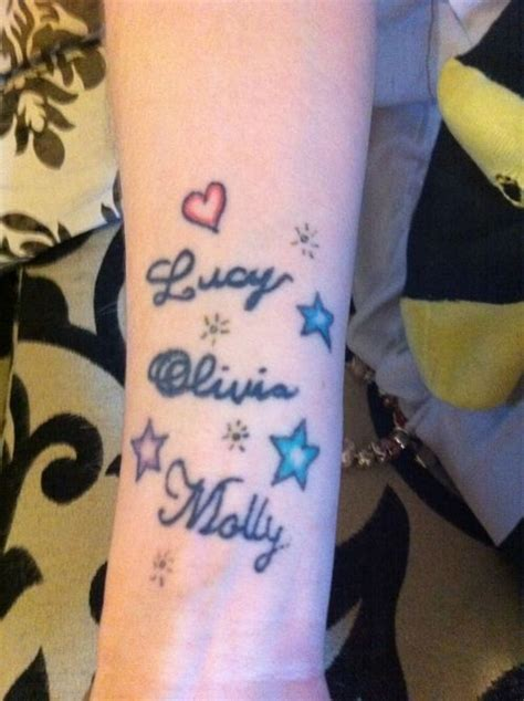 multiple  tattoo ideas names  wrist bits tatoo