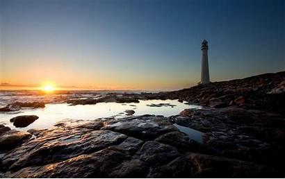 Lighthouse Sunset Winter Wallpapers