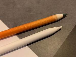Sandpapering An Apple Pencil To Make It Look Like A Real