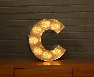 Light up marquee bulb letters c by goodwin goodwin for Bulbs for marquee letters