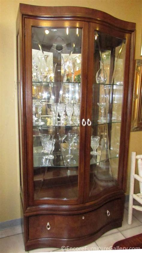 thomasville bogart collection lighted curio display china