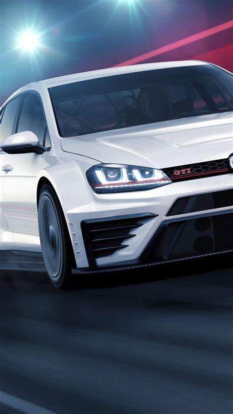 wallpaper volkswagen golf gti tcr racecar white cars